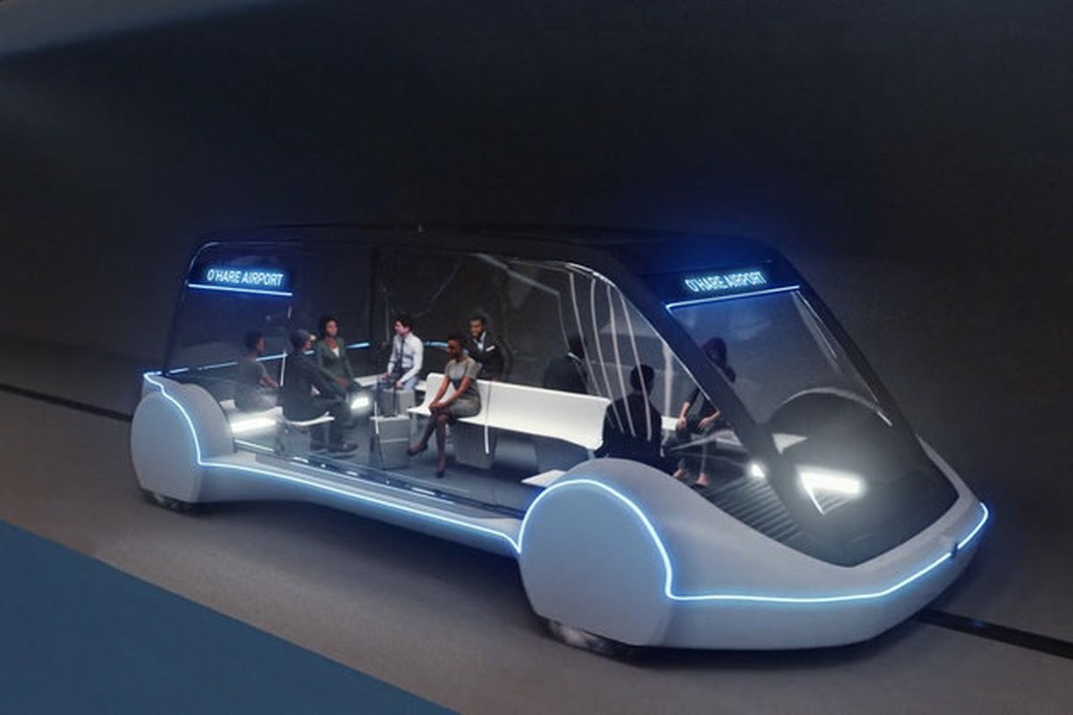 Image result for Elon Musk's Boring Company a high-speed transit Chicago