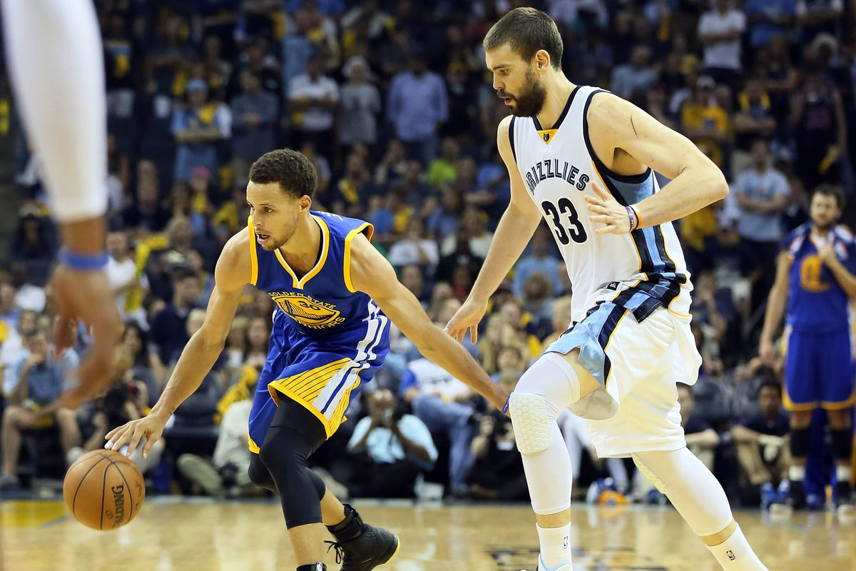 Marc Gasol and his Grizzlies will be chasing the cooling down Steph Curry around all night.