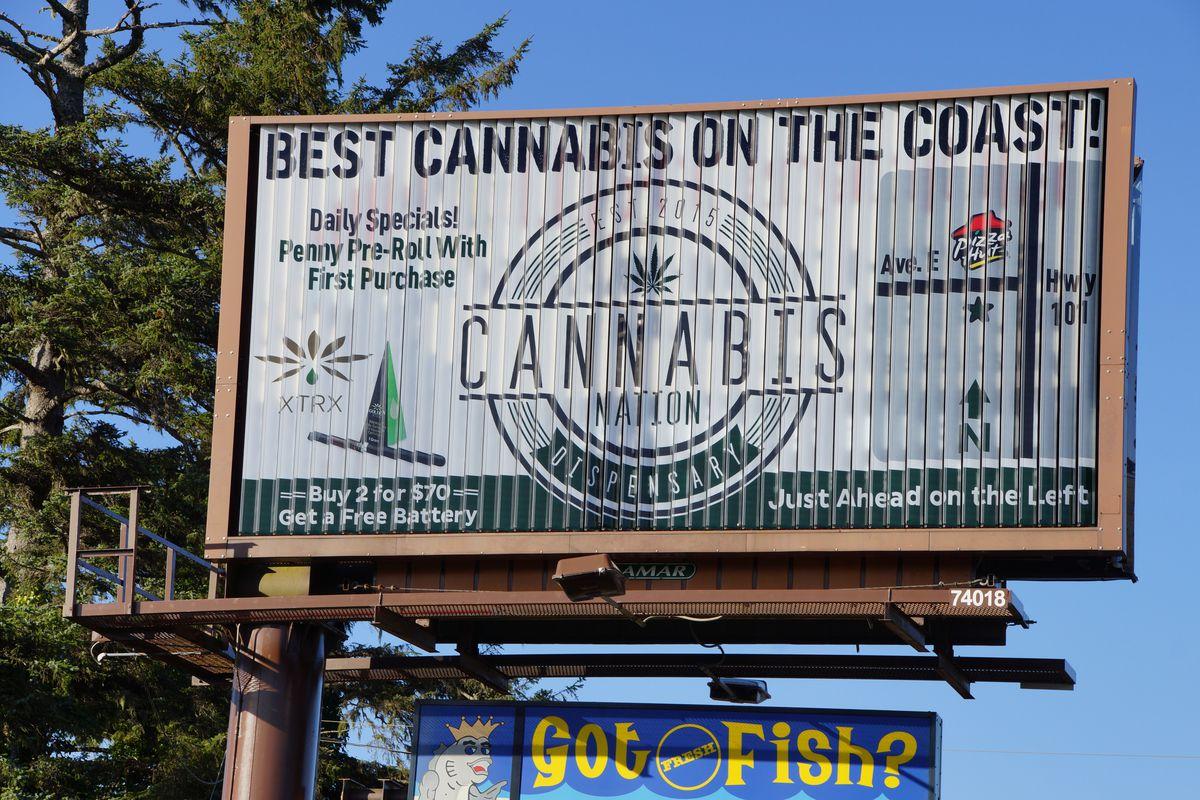 marijuana billboard in Oregon