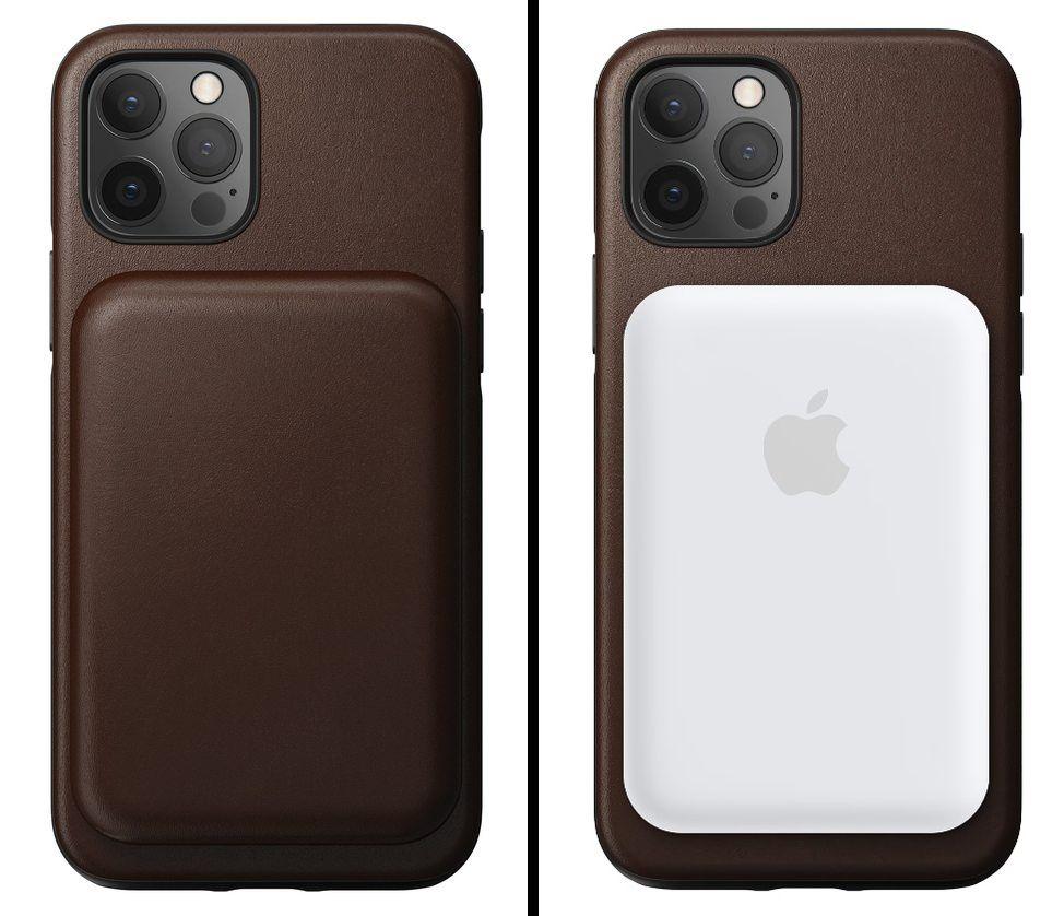 nomad leather case magsafe battery