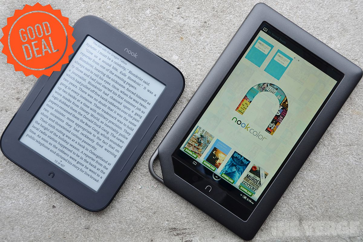 Good Deal: $20 off Nook Simple Touch and Nook Color - The Verge