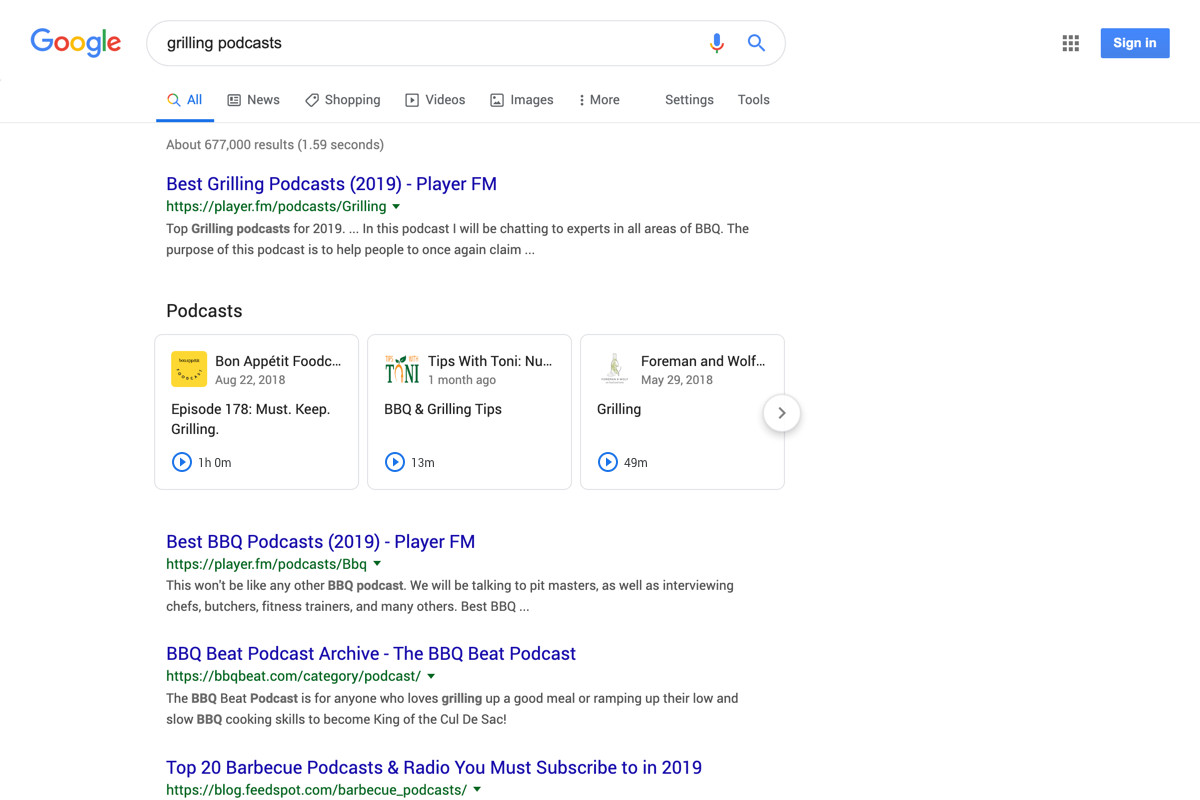 Google will start surfacing individual podcast episodes in search