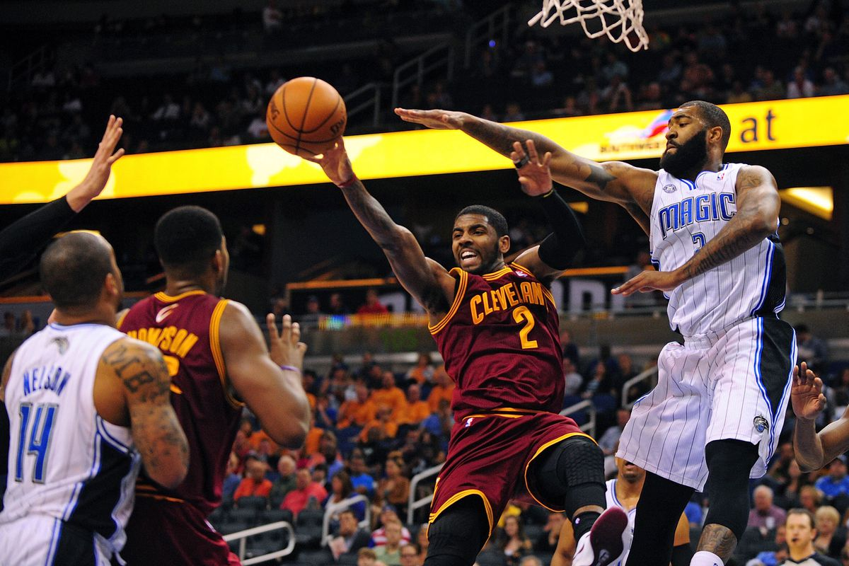 Jameer Nelson, Tristan Thompson, Kyrie Irving, and Kyle O'Quinn