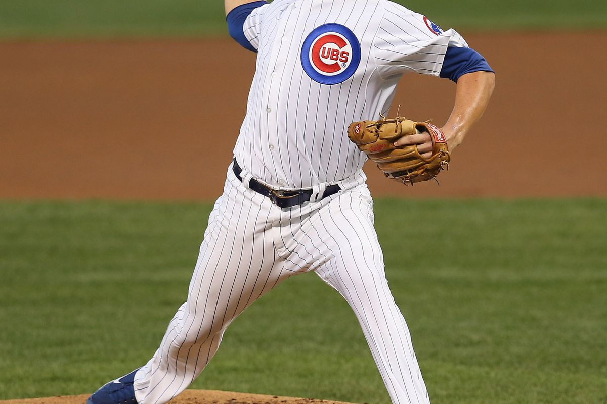 Starting pitcher Jeff Samardzija of the Chicago Cubs delivers the ball against the Milwaukee Brewers at Wrigley Field in Chicago, Illinois.  (Photo by Jonathan Daniel/Getty Images)