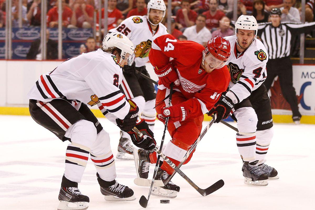 Chicago Blackhawks v Detroit Red Wings - Game Three