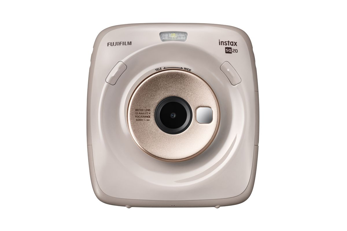 Fujifilm's Instax Square SQ20 can print photos and shoot