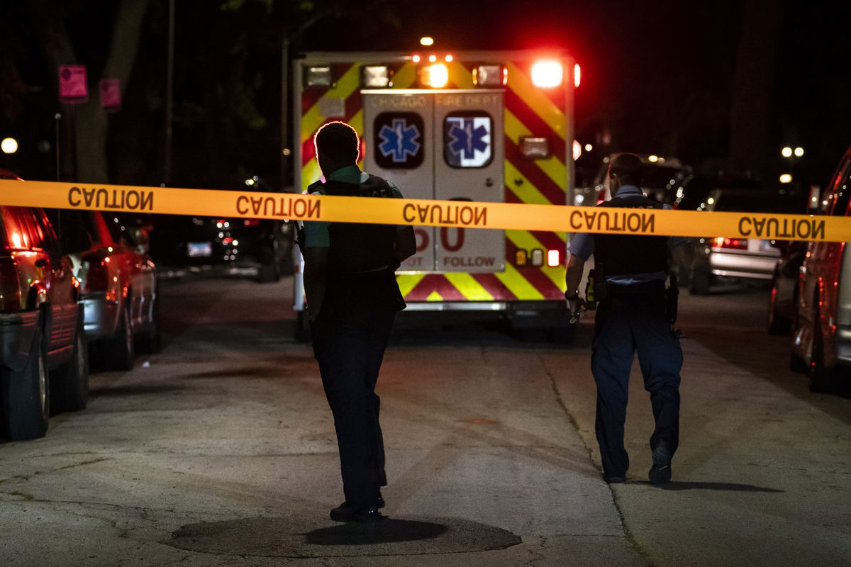 A man was shot in the leg early Monday outside a home in the 9900 block of South La Salle Street in Fernwood on the South Side.