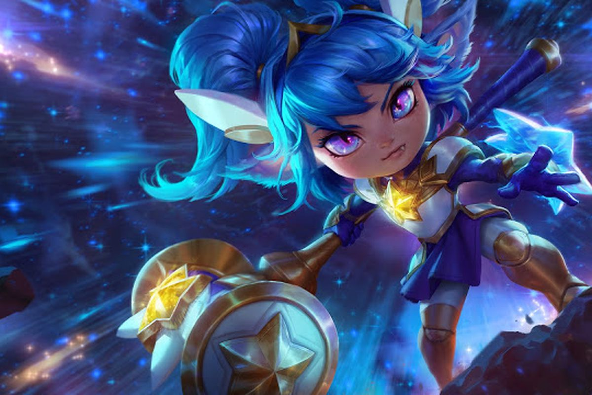Star Guardian Poppy's abilities go from gold to blue after