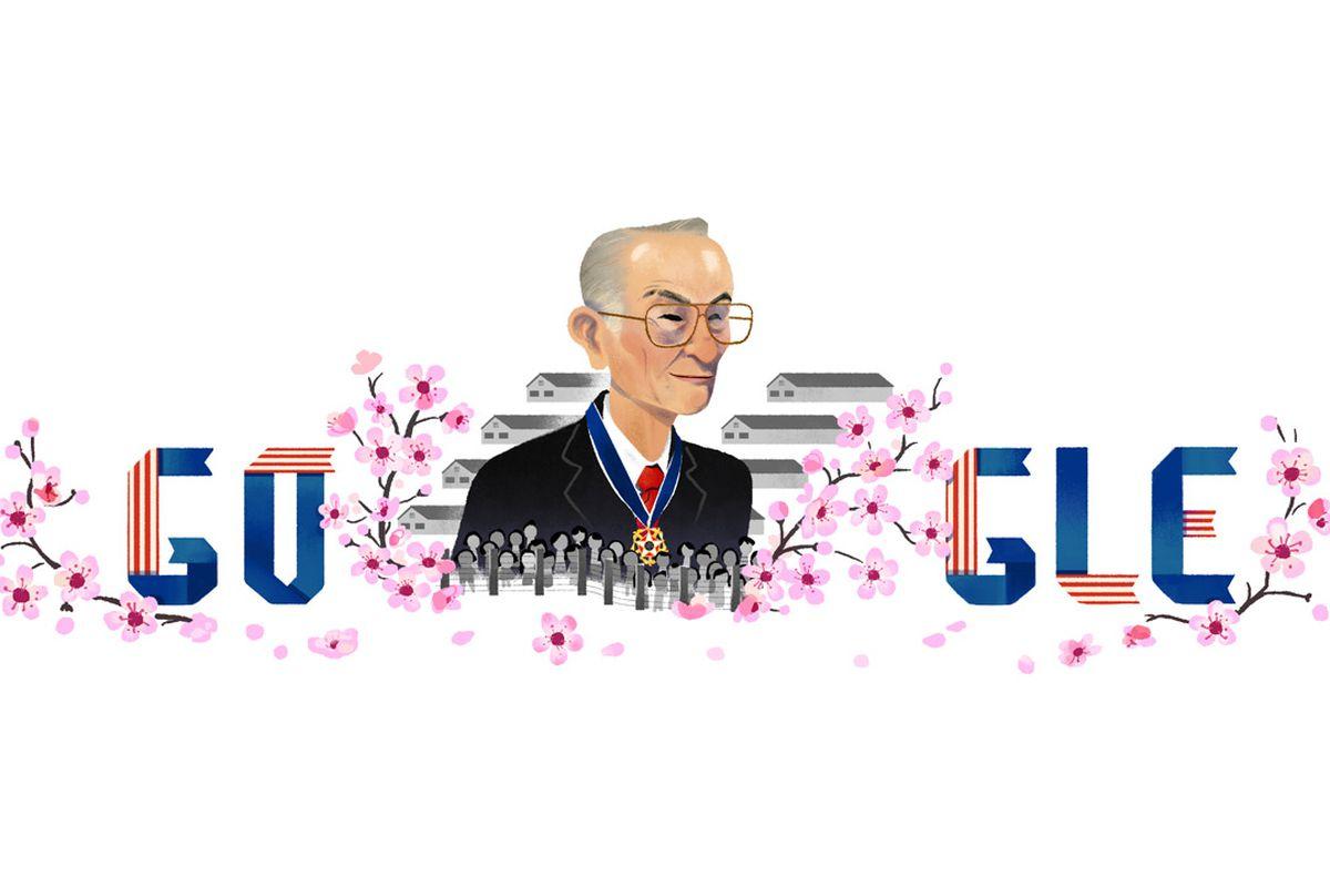 Google Doodle depicting Fred Korematsu