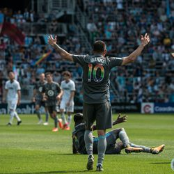 Miguel Ibarra expresses his frustration during Minnesota United's 2-3 loss to the Philadelphia Union