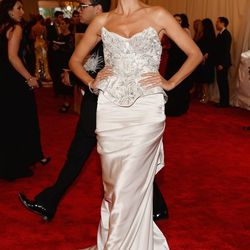 Heidi Klum, looking ready for anything but a punk-inspired gala in Marchesa