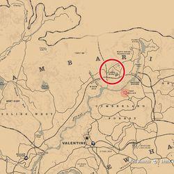 RDR2 Jack Hall Gang Map 2