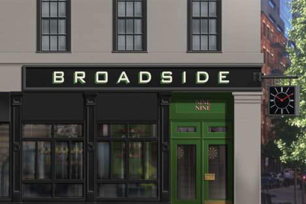Broadside rendering