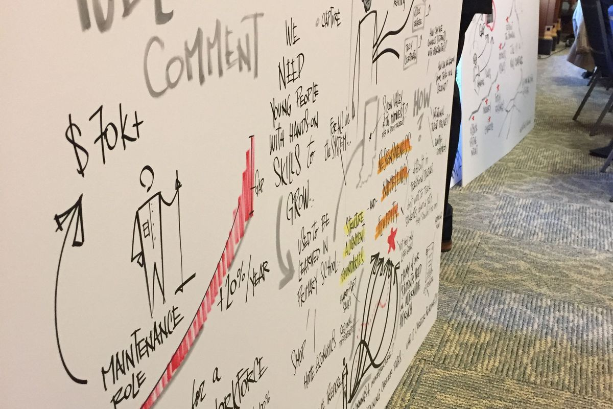 The discussions out of the graduation pathway committee have been illustrated by several graphic artists.