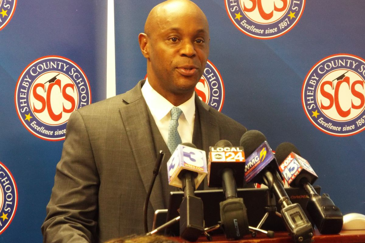 Shelby County Schools superintendent Dorsey Hopson announces that he's resigning from the district to take a job with Cigna.