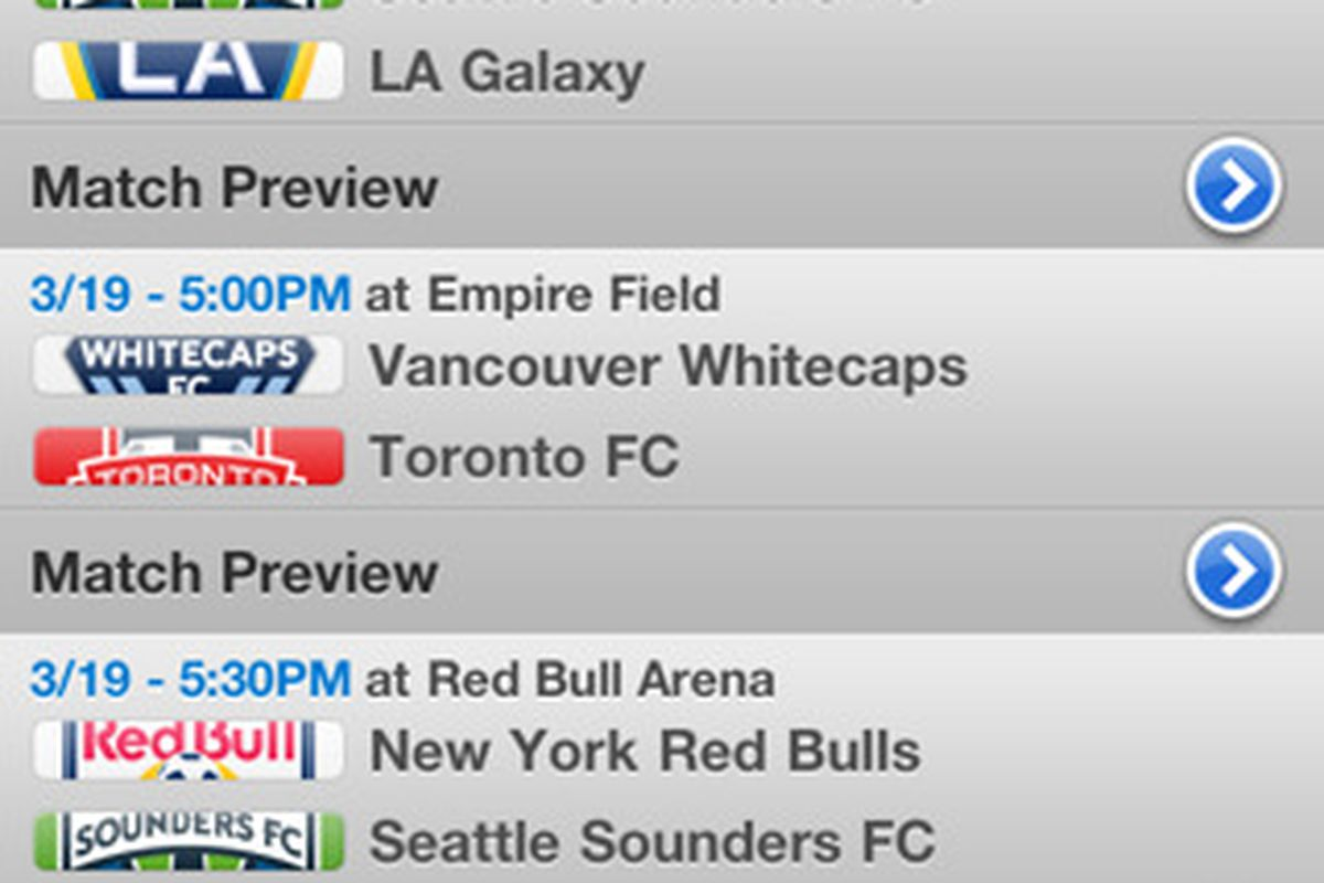 MLS fans now have a few way to follow their favorite teams. (Courtesy of Major League Soccer and Apple, Inc.)