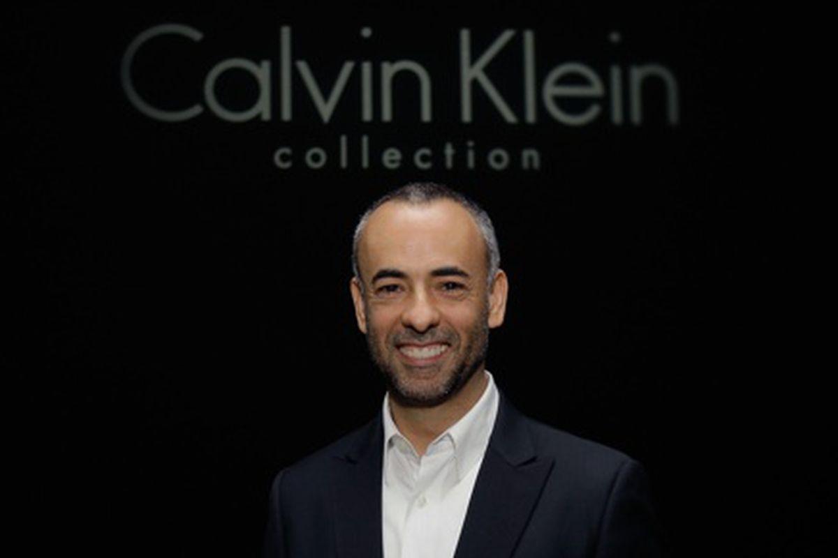 Francisco Costa of Calvin Klein, via Getty