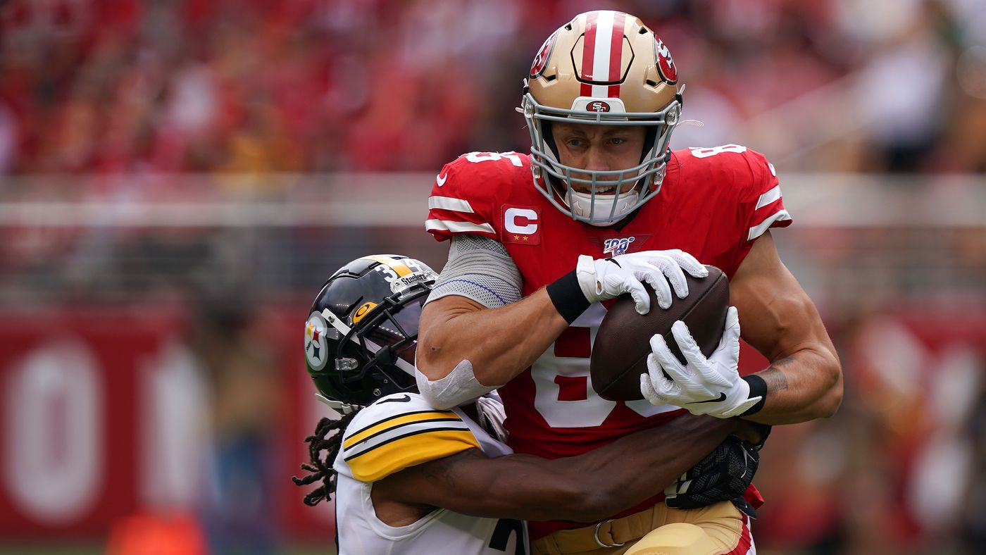 PFF top players: George Kittle has the highest PFF grade through Week 4, period