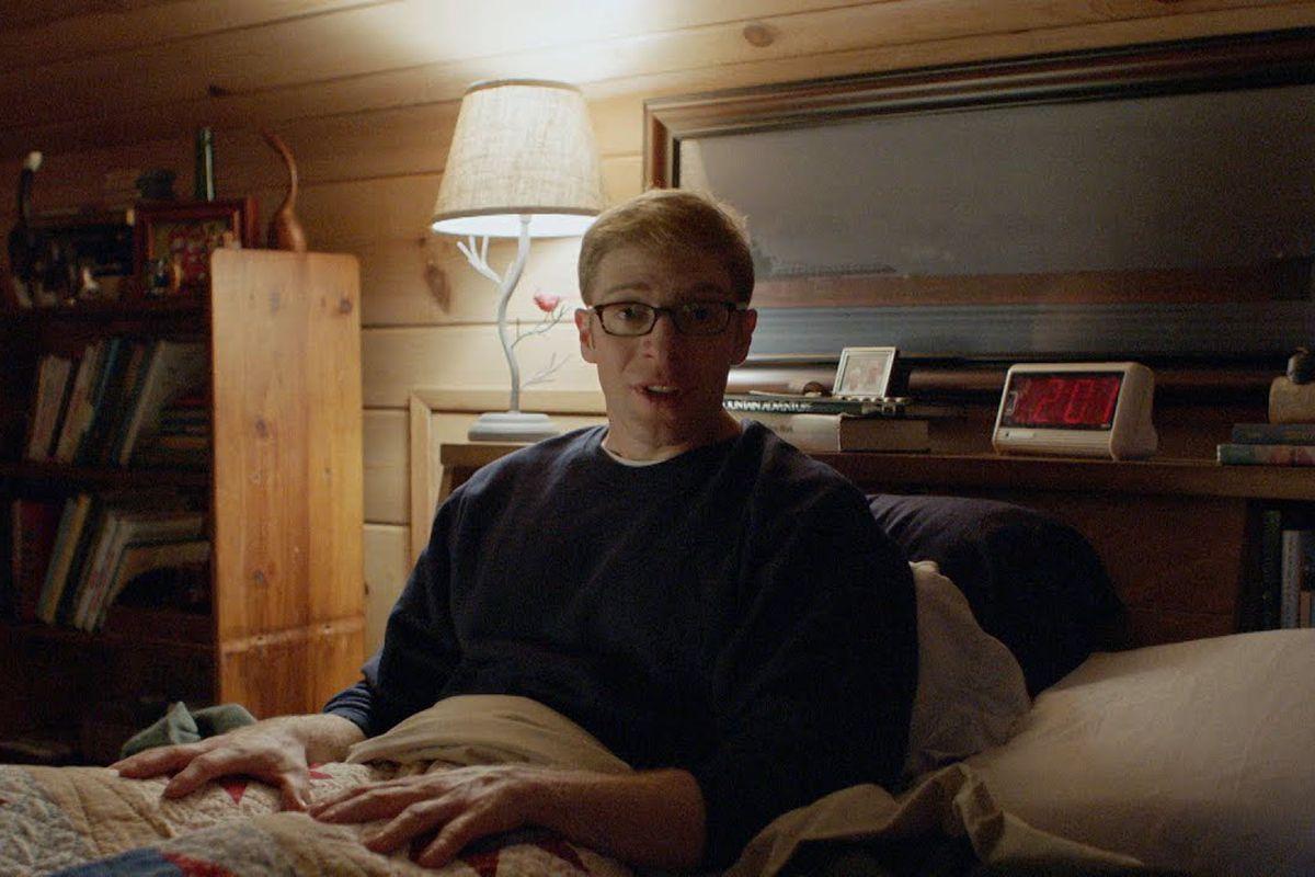 Joe Pera in bed in Joe Pera Talks With You.