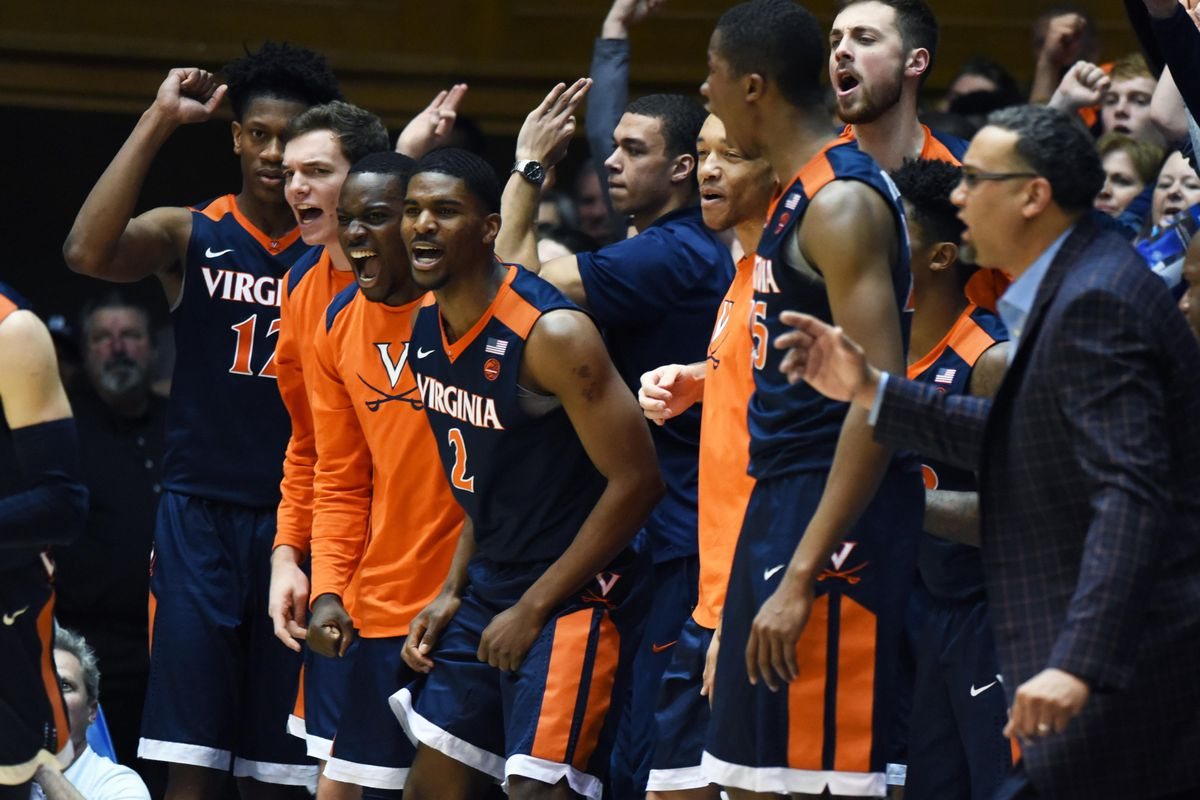 a8ef9f095b04 Bracketology 2018  Virginia replaces Duke as a No. 1 seed in NCAA  tournament projection