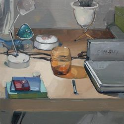 """""""My Desk,"""" by Chelsea James at the Art Barn."""