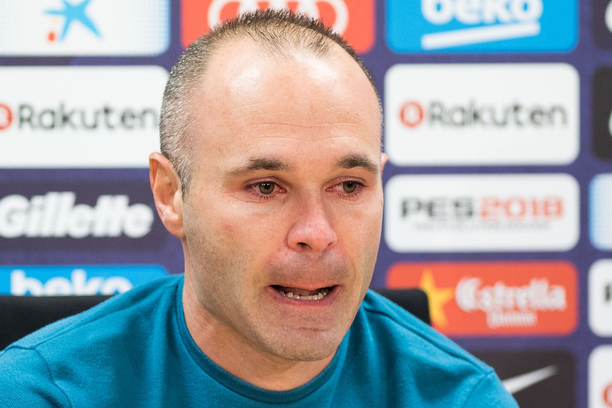 FC Barcelona player Andres Iniesta Press Conference