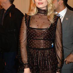 Margot Robbie wears a dress from Alexander McQueen's pre-fall 2016 collection.