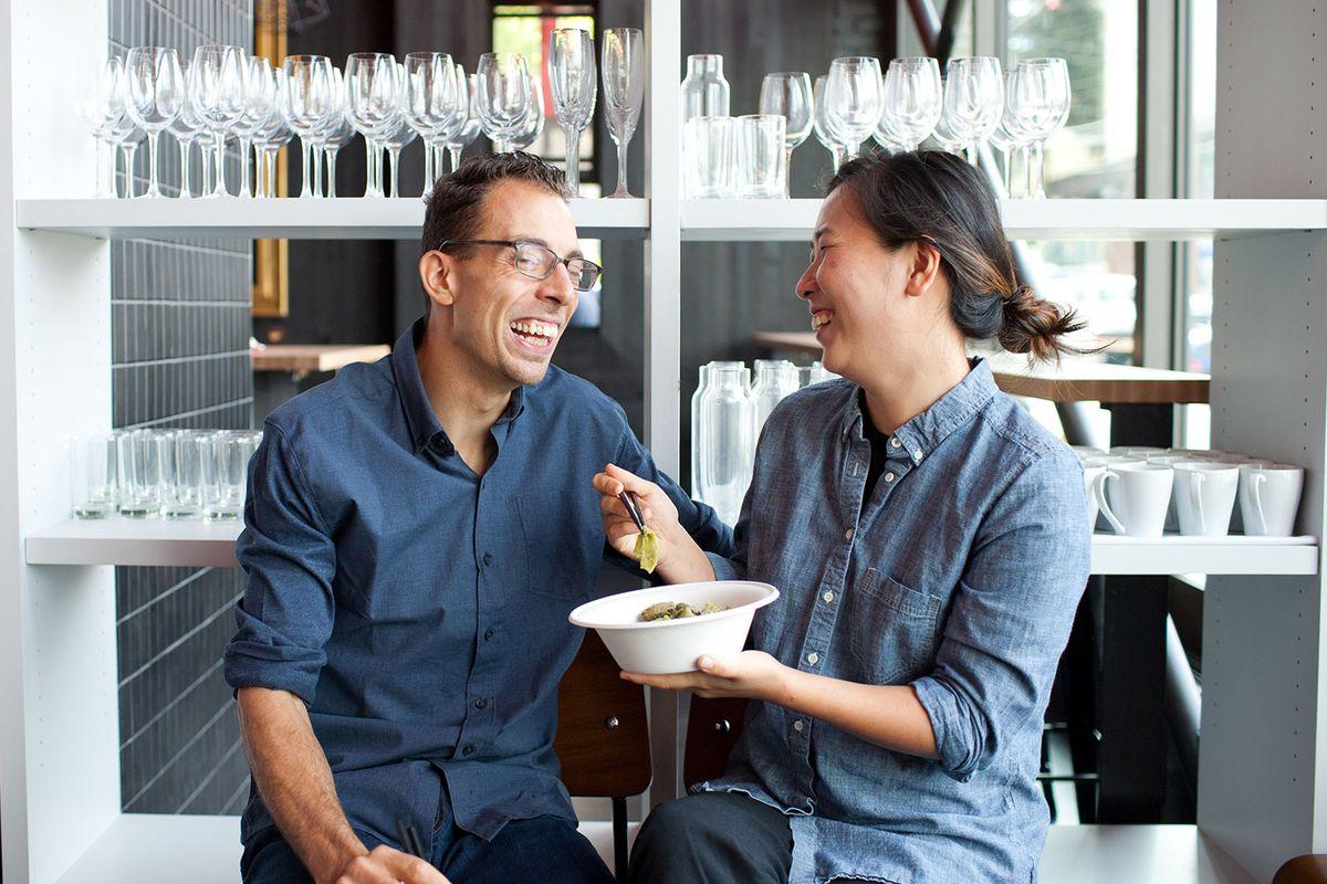 Seif Chirchi and Rachel Yang at Joule