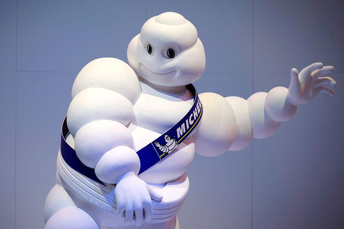The Michelin man, the Michelin star's mascot