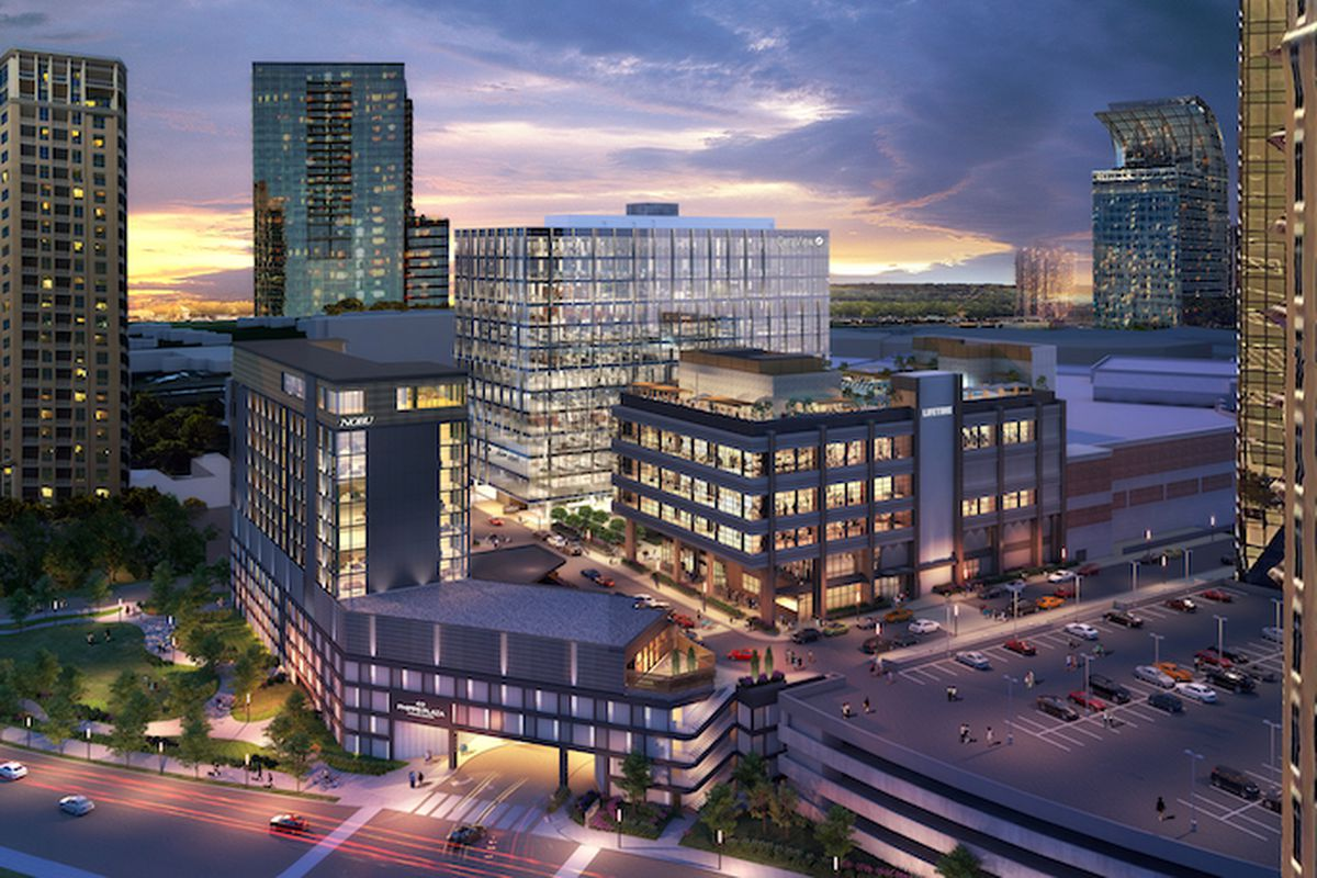 Rendering of office buildings and Phipps Plaza