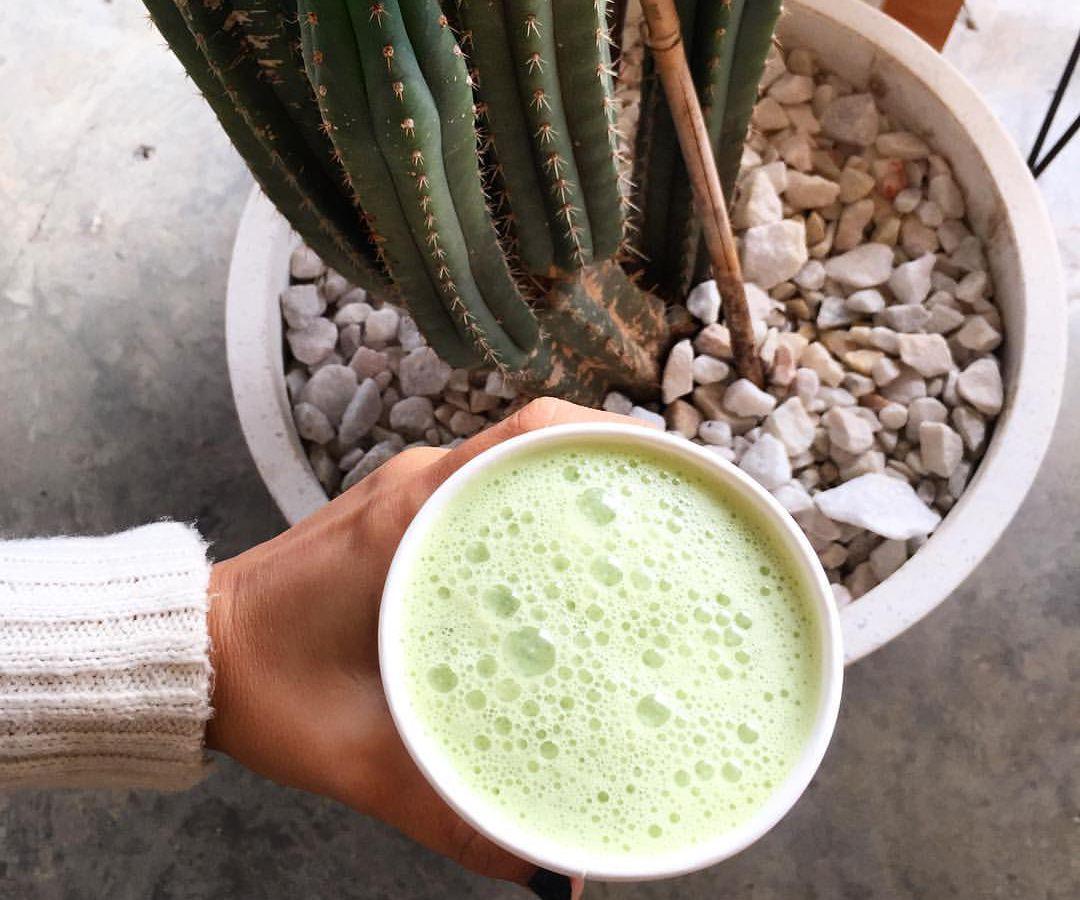 Juice Society's matcha latte