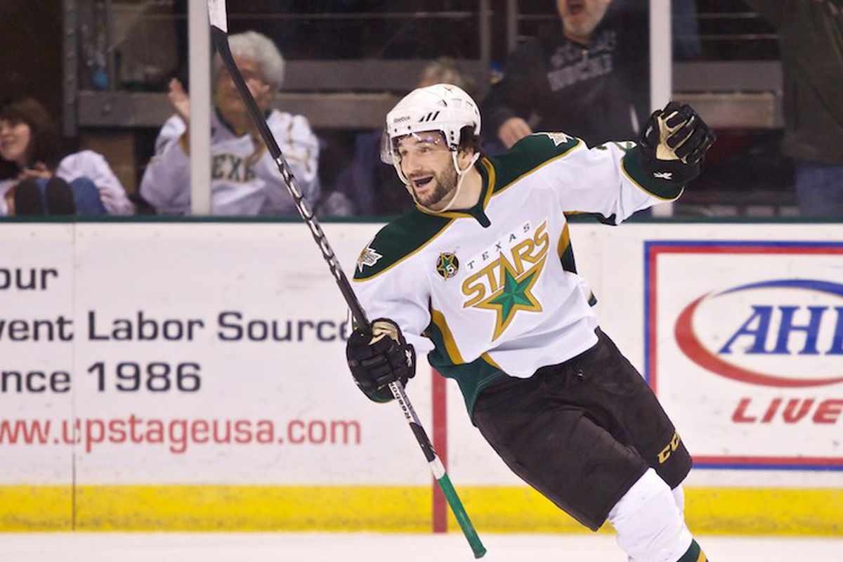 Mike Hedden celebrates the game winner in Friday's contest against Grand Rapids.