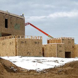 Construction crews work to recreate the Holy Land on the LDS Church's movie set near Goshen. Initially, the set will be used for a series of videos retelling New Testament stories.