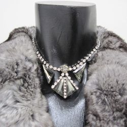 Costume diamond and crystal faux necklace, $75