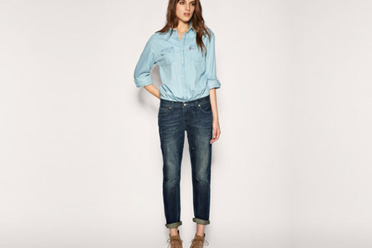 """Image via <a href=""""http://www.dailycandy.com/new-york/gallery/89212/15-Denim-Dos-Designer-Jeans-to-Dungarees-Inspired-Lipstick?n=4"""">DailyCandy</a>"""