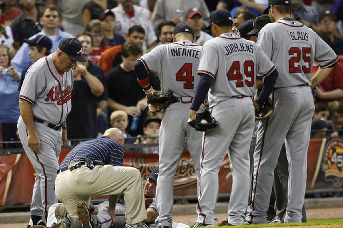 Chipper is down, and so too are the Braves.