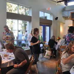 The event was very well attended (see <em>Houston Press</em> food critic Katharine Shilcutt on the right?).
