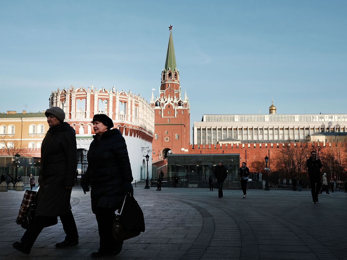 The entrance to Russia's Kremlin.