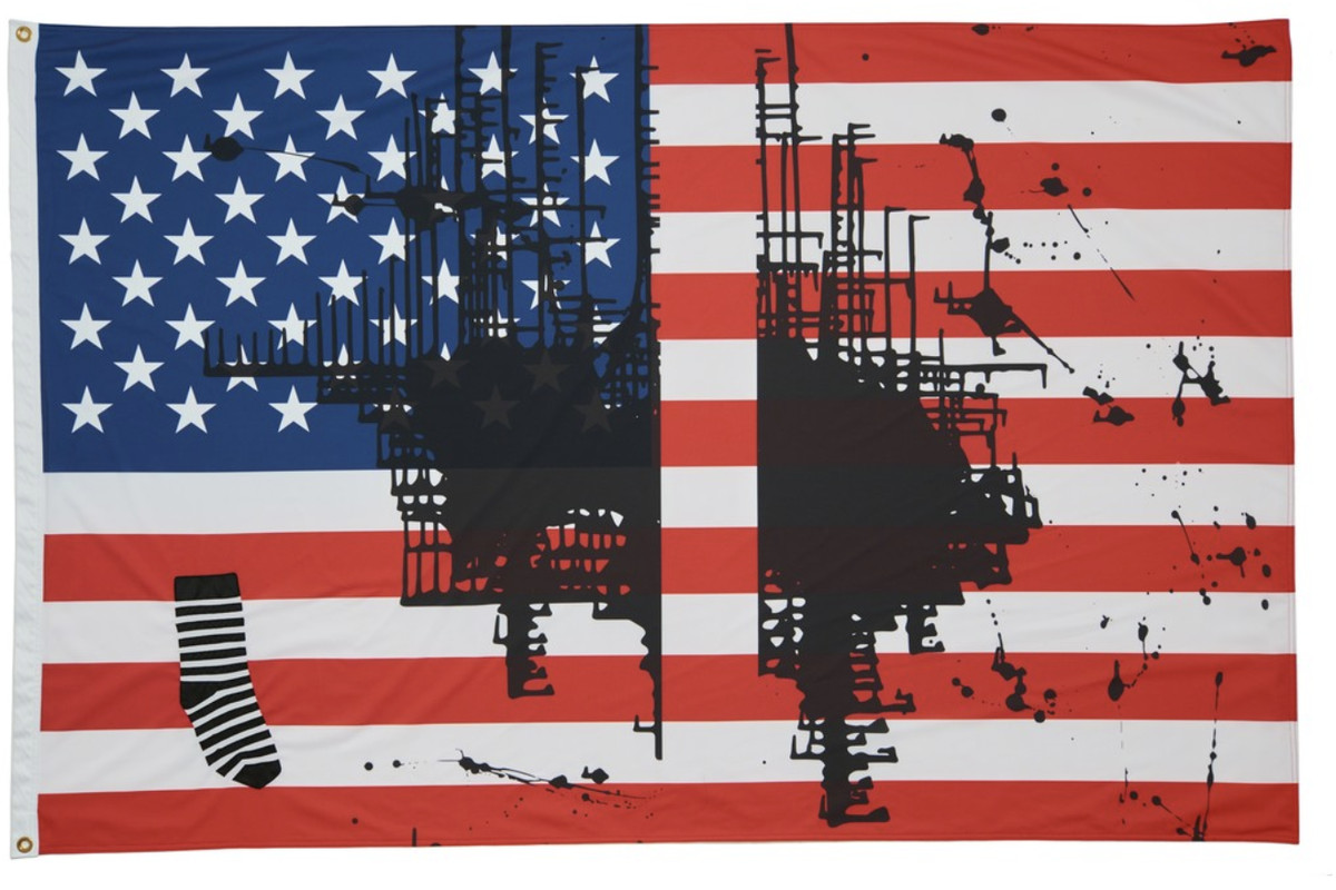 An artist painted on the American flag. The governor of Kansas wants her work destroyed.
