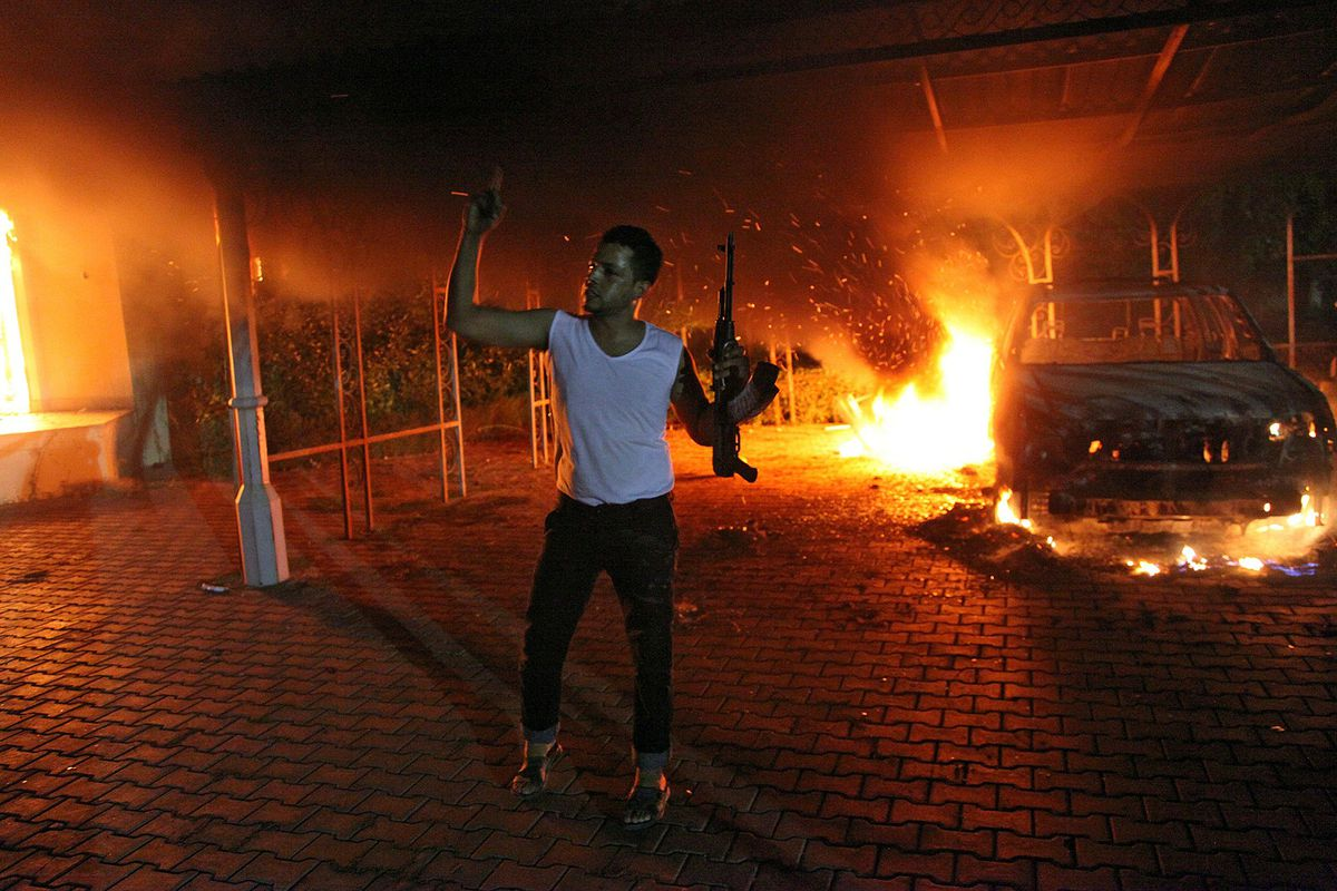 The US mission in Bengahzi on September 11th, 2012 — the night of the attack Ahmed Abu Khattala allegedly led.
