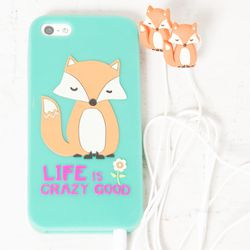 """Should you have any tweens on your holiday list (or at least an adult with a youthful spirit), we think this fox-adorned iPhone case and matching earbuds set from <b>Flock</b> is freakin' adorable. The duo rings in at just <a href=""""http://www.flockboston."""