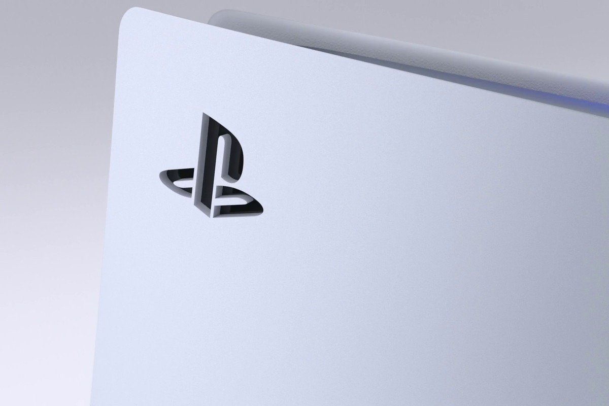 close-up of PlayStation logo on the PlayStation 5