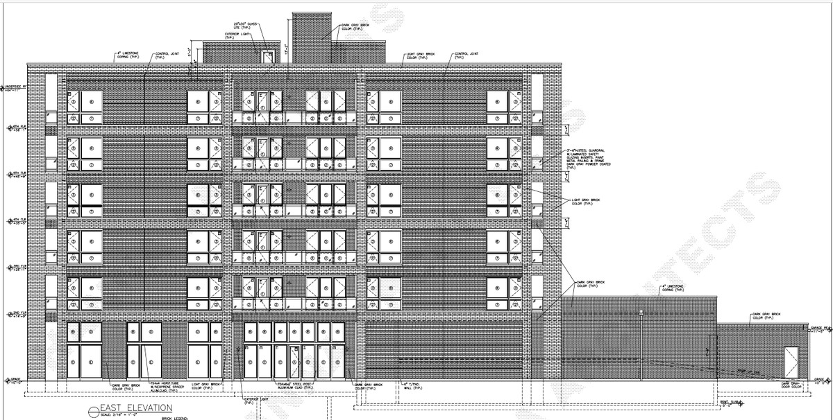 Drawing of what the new apartment complex will look like, supplied by Ald. Joe Moreno's office.