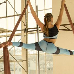 <b>Akrovita</b> designers <b>Virginia Fabricius</b> and <b>Krista Wardell</b> met while studying at Parsons and bonded over a shared love of aerial acrobatics. Now based in San Francisco, their inaugural collection includes sports bras, shorts, and leggin