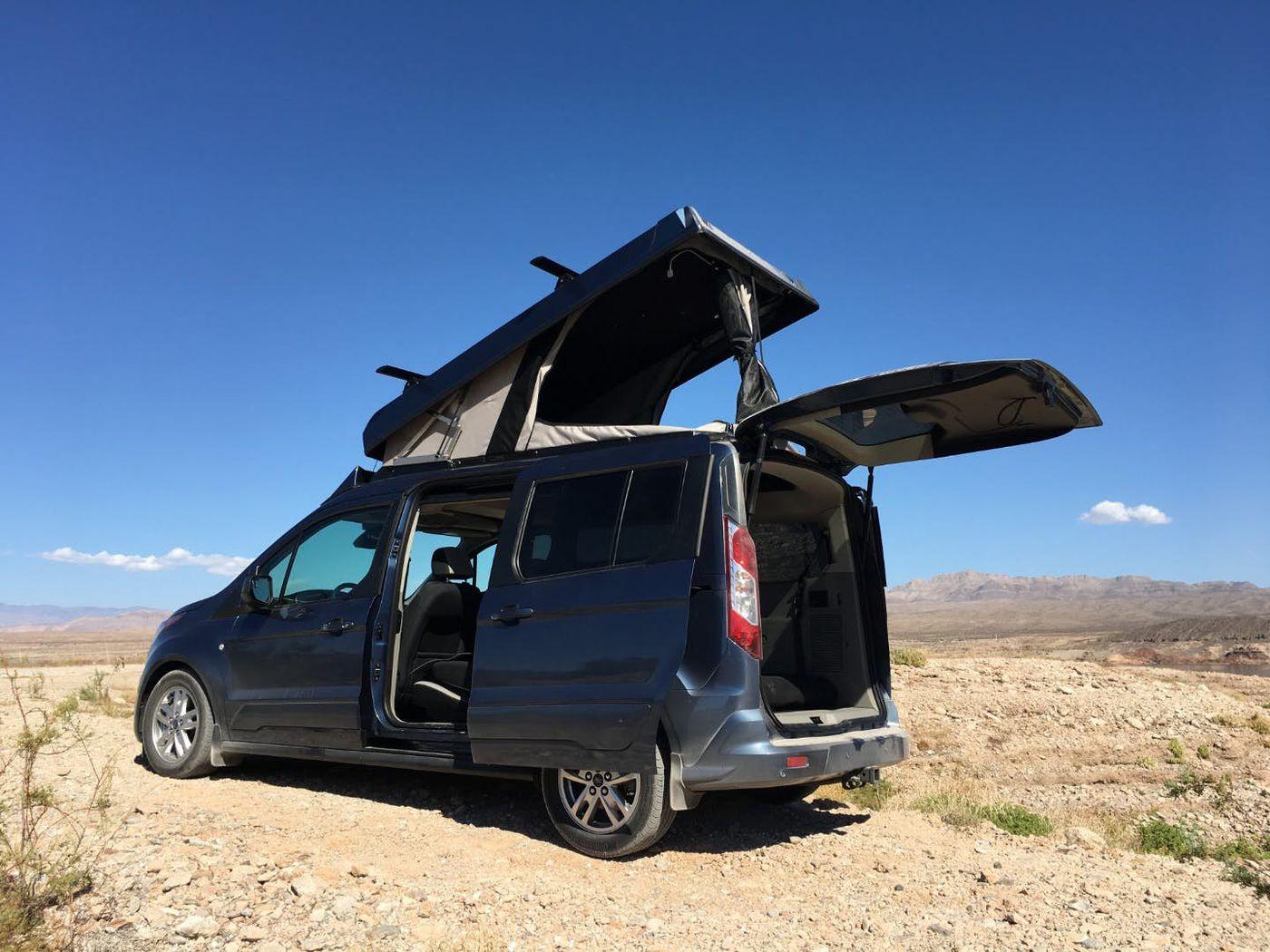 Camper van has pop-top roof for extra sleeping space - Curbed