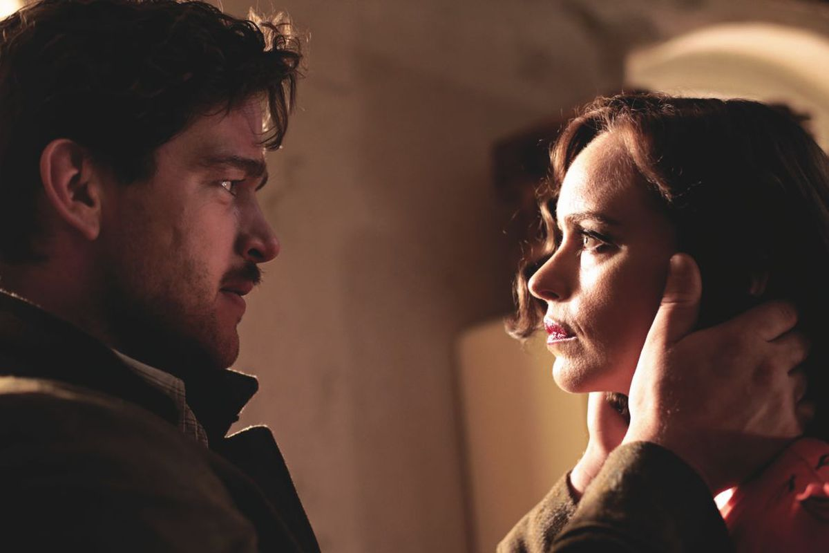 Johnny (Ronald Zehrfeld) confronts a woman he does not know is his wife (Nina Hoss), whom he presumes to be dead.