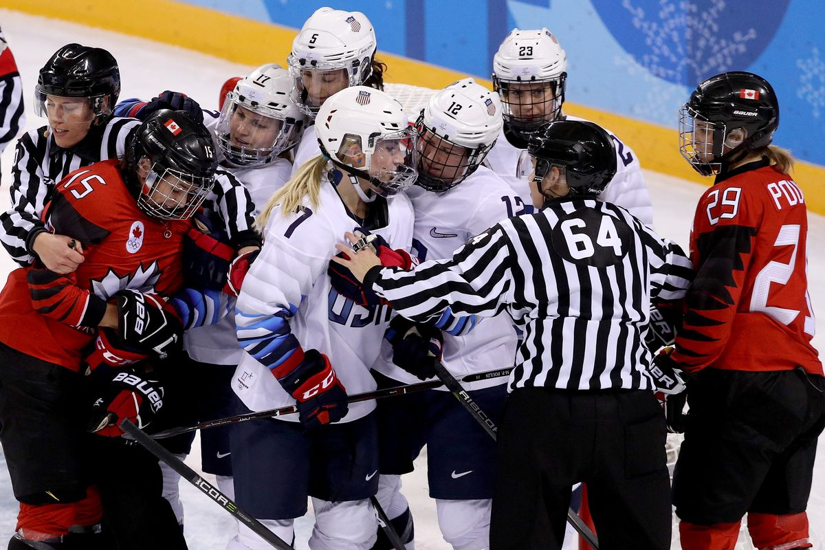 2018 olympics the history of usa and canada womens hockey rivalry team usa shocked canada to win the first olympic womens hockey gold freerunsca Image collections