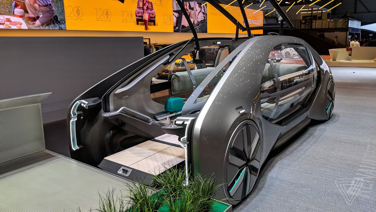 renault s ez go concept car is a robot taxi from the. Black Bedroom Furniture Sets. Home Design Ideas