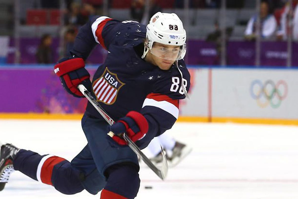 e6a52be30 Blackhawks star Patrick Kane leads Team USA into the World Cup of Hockey  later this month. (Getty Images)