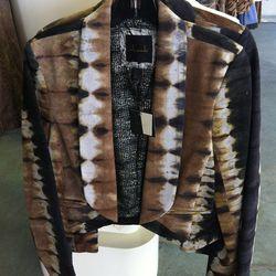 Tie-dye leather jacket, $395